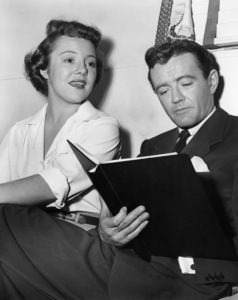 """Strangers on a Train""Patricia Hitchcock, Robert Walker1951Photo by Graybill** I.V. - Image 24383_0144"