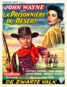 """The Searchers"" (Belgian poster)John Wayne, Natalie Wood1956** I.V. - Image 24383_0204"