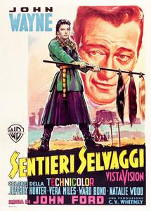 """The Searchers"" (Italian poster)John Wayne, Natalie Wood1956** I.V. - Image 24383_0205"