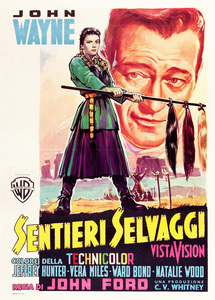 """The Searchers"" (Italian poster)John Wayne, Natalie Wood1956** I.V. - Image 24383_0205"