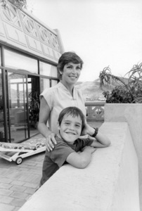 Helen Reddy and son Jordan in their suite at the Sun City Hotel during a tour of South Africa in the summer of 1981** I.V. - Image 24383_0301