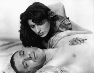 "Burt Lancaster and Anna Magnani in ""The Rose Tattoo"" 1955 Paramount ** I.V. - Image 24383_0368"