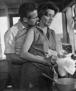 """Paul Newman and Patricia Neal on the set of """"Hud""""1963 Paramount** B.D.M. - Image 24383_0460"""