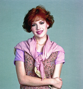 """Molly Ringwald during the making of """"Sixteen Candles""""1984** I.V. - Image 24383_0477"""