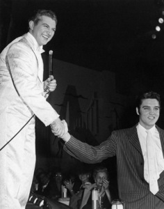 Lee Liberace and Elvis Presley at the Riviera Hotel in Las Vegas, Nevada1956** I.V. - Image 24383_0677