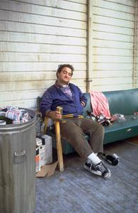 """John Belushi during the making of """"National Lampoon"""