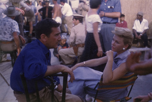 """Photographer Sanford Roth and Doris Day during the making of """"The Man Who Knew Too Much""""1956** I.V. - Image 24383_0805"""