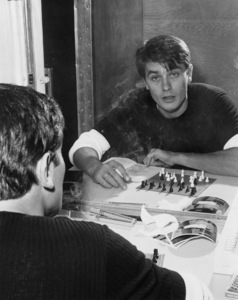 """Alain Delon in his dressing room on location for """"Once a Thief"""" 1965** I.V. - Image 24383_0806"""