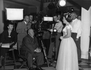 """Strangers on a Train""Patricia Hitchcock, director Alfred Hitchcock, cinematographer Robert Burks1951** I.V. - Image 24383_0866"