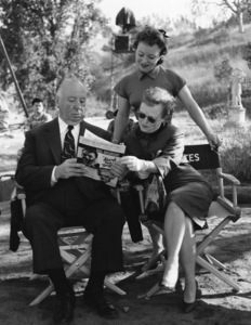 """Director Alfred Hitchcock, his wife Alma Reville and their daughter, Patricia during the making of """"Psycho""""1960** I.V. - Image 24383_0870"""