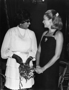 Josephine Baker and Grace Kellycirca 1960s** I.V. - Image 24383_0886