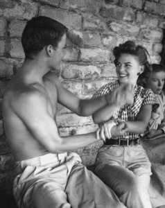 """Patrick Wayne and  Natalie Wood during the making of """"The Searchers""""1956** I.V. - Image 24383_0892"""