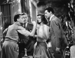 """Director George Cukor, John Howard, Katharine Hepburn and Cary Grant on the set of """"The Philadelphia Story""""1940 MGM** B.D.M. - Image 24384_0052"""