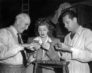 """George Marshall, Lucille Ball and William Holden on the set of """"Fancy Pants""""1950 Paramount** I.V. / M.T. - Image 24384_0110"""