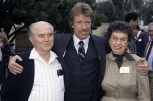 Chuck Norris with his parents, Wilma and George Knightcirca 1980s© 1980 Jean Cummings - Image 24385_0031
