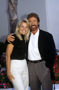Chuck Norris and his fiance, Monica Hallcirca 1996© 1996 Jean Cummings - Image 24385_0033