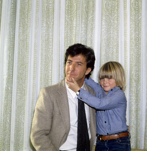 "Dustin Hoffman and Justin Henry at a press event for ""Kramer vs. Kramer""circa 1980© 1980 Jean Cummings - Image 24385_0037"