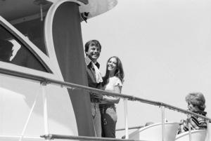 Robert Wagner and Natalie Wood aboard the Ramblin