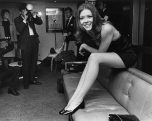"""Diana Rigg at the Hilton Hotel meeting the press on the announcement of her appearing in a film called """"Assassination Bureau""""1967** J.C.C. - Image 24385_0069"""