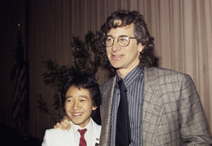 """Director Steven Spielberg and Ke Huy Quan during an event for """"Indiana Jones and The Temple Of Doom""""1984© 1984 Jean Cummings - Image 24385_0087"""