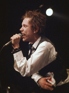 Johnny Rotten of the Sex Pistols performing in Atlanta, Georgia1976© 1978 Ron Sherman - Image 24387_0011