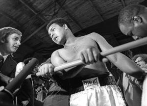 Muhammad Ali at a Maynard Jackson exhibition fight in Atlanta, Georgia1975© 1978 Ron Sherman - Image 24387_0013