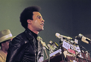 Huey P. Newton speaking at Georgia State University in Atlanta1972© 1978 Ron Sherman - Image 24387_0016