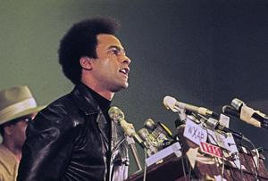 Huey P. Newton speaking at Georgia State University in Atlanta1972© 1978 Ron Sherman - Image 24387_0016