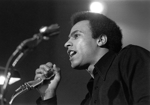 Huey P. Newton speaking at Syracuse University1971© 1978 Ron Sherman - Image 24387_0018