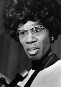 Shirley Chisholm speaking at Clark College in Atlanta, Georgia1972© 1978 Ron Sherman - Image 24387_0022