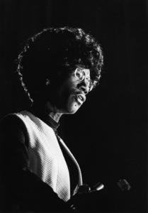Shirley Chisholm speaking at Clark College in Atlanta, Georgia1972© 1978 Ron Sherman - Image 24387_0023