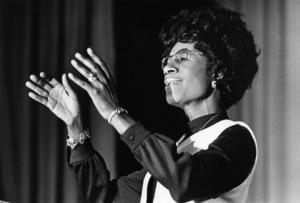 Shirley Chisholm speaking at Clark College in Atlanta, Georgia1972© 1978 Ron Sherman - Image 24387_0025