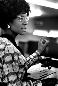 Shirley Chisholm speaking at Georgia State University in Atlanta1972© 1978 Ron Sherman - Image 24387_0027