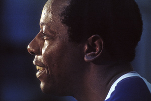 Hank Aaron after hitting his 715th Home Run to break Babe Ruth