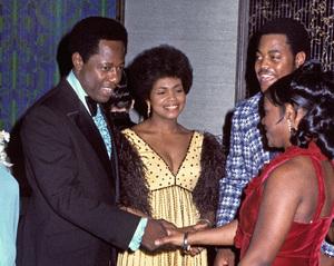 Hank Aaron and his wife, Billye (married in Kingston, Jamaica November 12, 1973 /  Reception in Atlanta, Georgia November 24, 1973)1973© 1978 Ron Sherman - Image 24387_0045