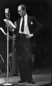 Rex Harrison during a WNBC broadcastcirca  late 1940s© 1978 Ruth Orkin - Image 24388_0002