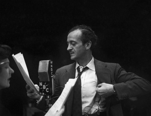 David Niven during a WNBC broadcastcirca late 1940s© 1978 Ruth Orkin - Image 24388_0006