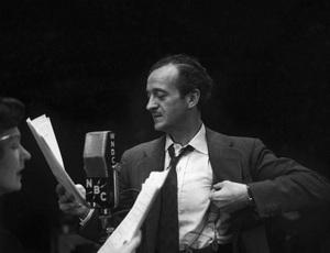 David Niven during a WNBC broadcastcirca late 1940s© 1978 Ruth Orkin - Image 24388_0006