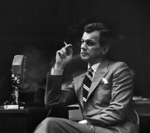 Joseph Cotten during a WNBC broadcast in New Yorkcirca  late 1940s © 1978 Ruth Orkin - Image 24388_0008