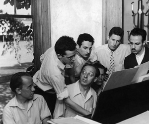 Aaron Copland (at piano) with his composition students at the music venue, Tanglewoodcirca 1947© 1978 Ruth Orkin - Image 24388_0020