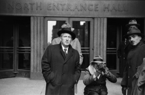 Spencer Tracy in front of a New York City courthouse1950© 1978 Ruth Orkin - Image 24388_0054