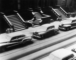 Snow covered steps and stoops on West 88th Street in New York City1952© 1978 Ruth Orkin - Image 24388_0063