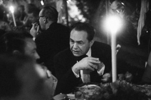 Edward G. Robinson at a party hosted by Marion Davies 1950 © 1978 Ruth Orkin - Image 24388_0064