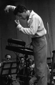 Leonard Bernstein at Lewisohn Stadium in New York City 1947 © 1978 Ruth Orkin - Image 24388_0077