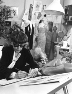 Edith Headduring filming of a Home Savings Bank CommercialApril 17, 1979 - Image 2466_0030
