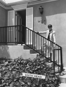 Edith Headin front of her office1976 © 1978 Eric Skipsey - Image 2466_0031