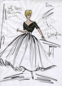 """Edith Head sketch of Grace Kelly for the film """"Rear Window"""" 1954 ** I.V. - Image 2466_0053"""