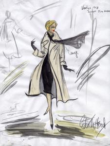 """Edith Head sketch of Kim Novak for the film """"Vertigo"""" 1958 ** I.V. - Image 2466_0054"""