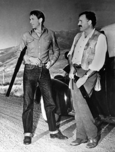 Ernest Hemingway with Gary Cooper during a hunting trip at Sun Valley, Idaho1940 - Image 2473_0005