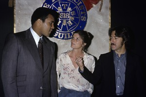 Dustin Hoffman with Katharine Ross and Muhammad Ali1977© 1978 Gary Lewis - Image 2483_0143